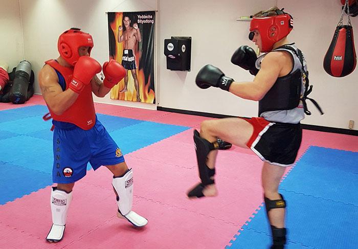 sanda fighting training