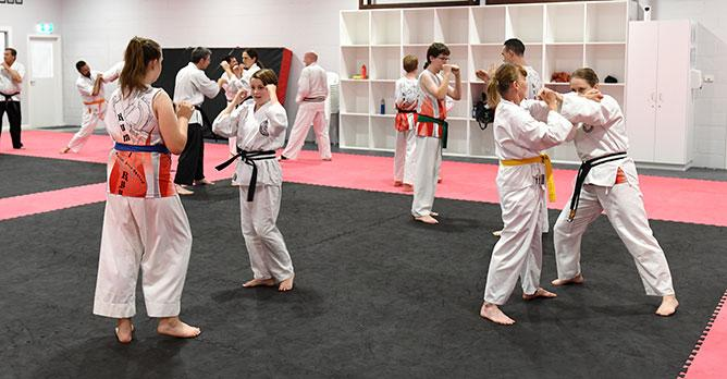 self defence classes group